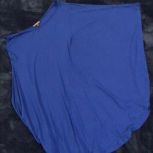 Express royal blue off the shoulder dress